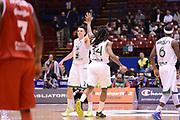 DESCRIZIONE : Milano Coppa Italia Final Eight 2013 Quarti di Finale Montepaschi Siena Trenkwalder Reggio Emilia<br /> GIOCATORE : Matt Janning David Moss<br /> CATEGORIA : esultanza scelta<br /> SQUADRA : Trenkwalder Reggio Emilia Montepaschi Siena<br /> EVENTO : Beko Coppa Italia Final Eight 2013<br /> GARA : Montepaschi Siena Trenkwalder Reggio Emilia<br /> DATA : 08/02/2013<br /> SPORT : Pallacanestro<br /> AUTORE : Agenzia Ciamillo-Castoria/C.De Massis<br /> Galleria : Lega Basket Final Eight Coppa Italia 2013<br /> Fotonotizia : Milano Coppa Italia Final Eight 2013 Quarti di Finale Montepaschi Siena Trenkwalder Reggio Emilia<br /> Predefinita :