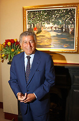 TONY BENNETT  at a private view of paintings by singer Tony Bennett held at the catto Gallery, 100 Heath Street, London NW3 on 5th April 2005.<br />
