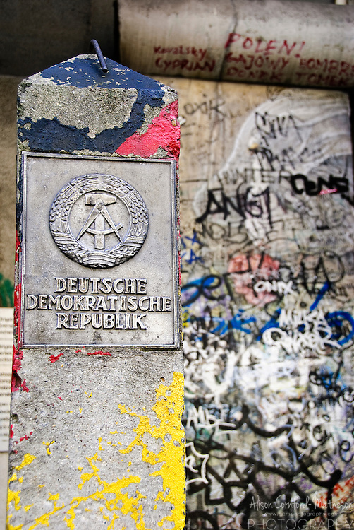Part of the remains of the Berlin wall that formerly divided East and West Germany