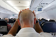 passenger in airplane feeling unwell