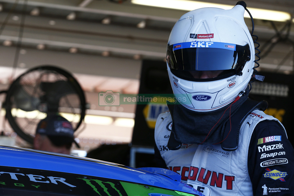 November 11, 2017 - Avondale, Arizona, United States of America - November 11, 2017 - Avondale, Arizona, USA: Ryan Blaney (21) hangs out in the garage during practice for the Can-Am 500(k) at Phoenix Raceway in Avondale, Arizona. (Credit Image: © Justin R. Noe Asp Inc/ASP via ZUMA Wire)