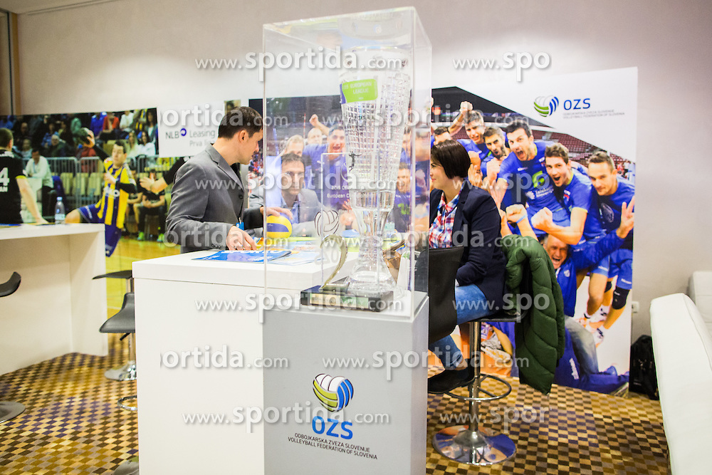 Slovenian trophy of Volleyball European championship 2015 during Sports marketing and sponsorship conference Sporto 2015, on November 19, 2015 in Hotel Slovenija, Congress centre, Portoroz / Portorose, Slovenia. Photo by Vid Ponikvar / Sportida
