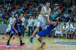 Uros Slokar of Slovenia vs Luigi Datome of Italia during friendly basketball match between National teams of Slovenia and Italy at day 3 of Adecco Cup 2015, on August 23 in Koper, Slovenia. Photo by Grega Valancic / Sportida
