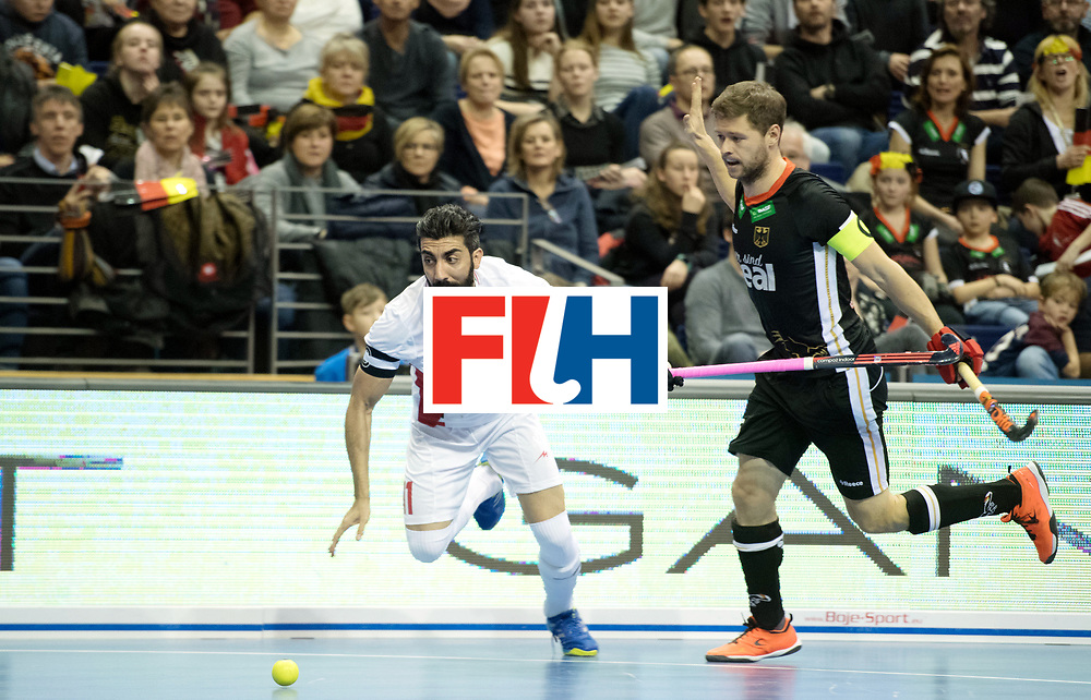 BERLIN - Indoor Hockey World Cup<br /> SF1 Germany - Iran<br /> foto: Behdad Beiranvand and Martin H&auml;ner <br /> WORLDSPORTPICS COPYRIGHT FRANK UIJLENBROEK