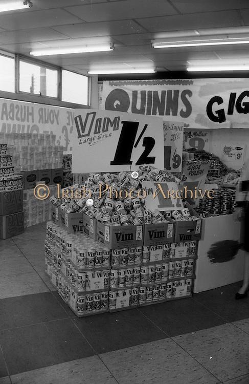 16/3/1966<br /> 3/16/1966<br /> 16 March 1966<br /> <br /> Vim Display at Quinn Supermarket on Fingal St.