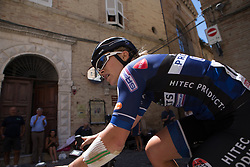 Emilie Moberg (NOR) of Hitec Products Cycling Team accelerates out of a corner during Stage 5 of the Giro Rosa - a 12.7 km individual time trial, starting and finishing in Sant'Elpido A Mare on July 4, 2017, in Fermo, Italy. (Photo by Balint Hamvas/Velofocus.com)
