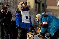 04 March 2006: Anchorage, Alaska - Hans Gatt prepares for his seventh race before the Ceremonial Start in downtown Anchorage of the 2006 Iditarod Sled Dog Race