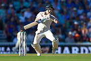 Steve Smith of Australia is tested by a bouncer from Jofra Archer of England during the 5th International Test Match 2019 match between England and Australia at the Oval, London, United Kingdom on 13 September 2019.