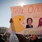 Gaddafi Protest D.C. - 2011