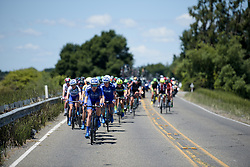 Tayler Wiles leads the UnitedHealthcare train at Amgen Breakaway from Heart Disease Women's Race empowered with SRAM (Tour of California) - Stage 3. A 118km road race from Elk Grove to Sacramento, USA on 13th May 2017.
