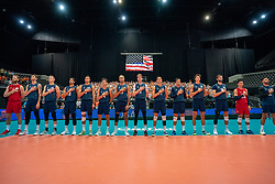 11-08-2019 NED: FIVB Tokyo Volleyball Qualification 2019 / Netherlands - USA, Rotterdam<br /> Final match pool B in hall Ahoy between Netherlands vs. United States (1-3) and Olympic ticket  for USA / Team USA
