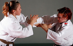 Barbara Ban and Tina Razinger of Judo Klub Bezigrad, on October 10, 2007, in Ljubljana, Slovenia.  (Photo by Vid Ponikvar / Sportida)