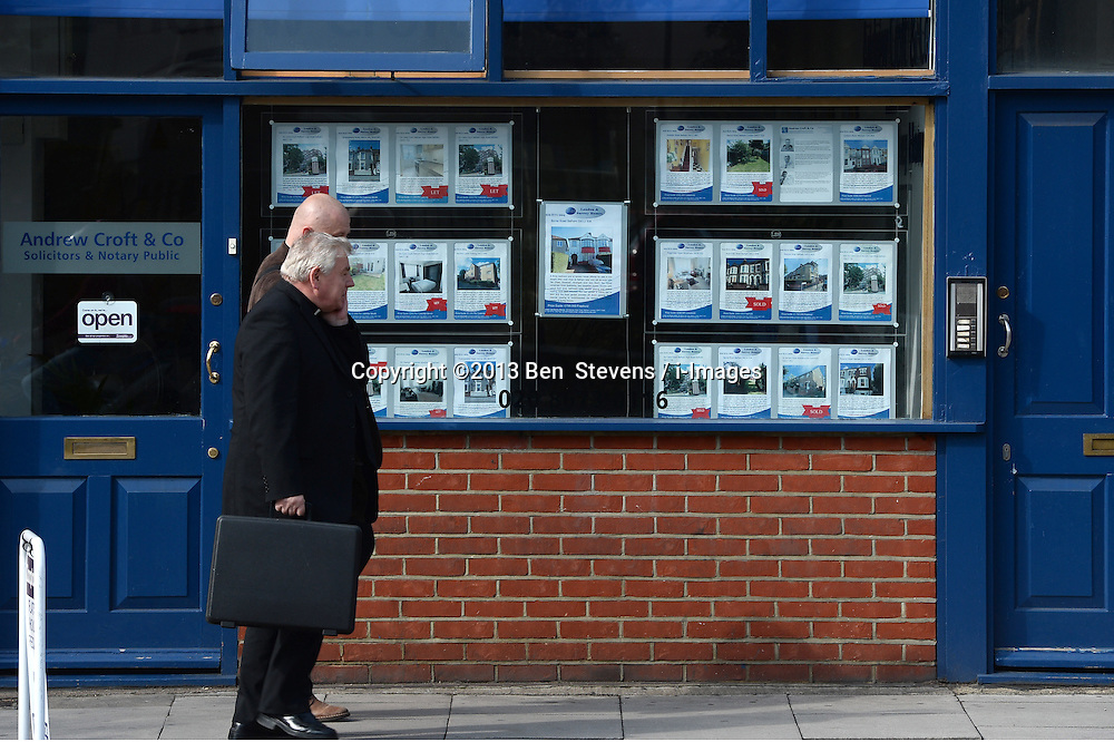 Advertising boards for property for sale and rent in London, United Kingdom. Wednesday, 2nd October 2013. Picture by Ben  Stevens / i-Images