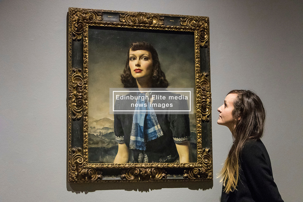 True to Life: British Realist Painting in the 1920's and 1930's  is the first ever exhibition to explore the realist tradition in British Painting of the 1920's and 1930's. It brings to light the work of dozens of once-celebrated artists whose paintings are now largely hidden away in private collections or in the store-rooms of Britain's museums and galleries.<br /> <br /> The exhibition runs from 1 July - 29 October 2017 at Scottish National Gallery of Modern Art (Modern Two) in Edinburgh<br /> <br /> Pictured:  By the Hills, 1939 - Gerard Leslie Brockhurst (1890 - 1978)