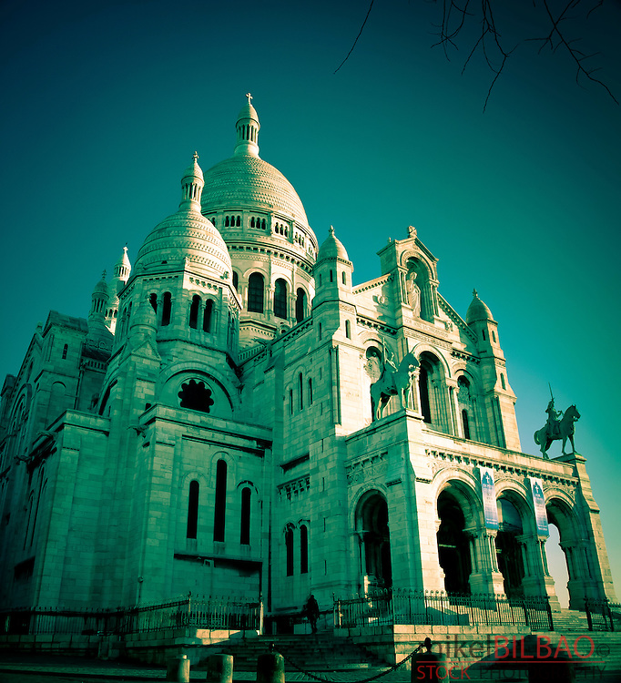 The Sacre-Coeur Basilica.<br /> Montmartre. <br /> Paris, France, Europe.