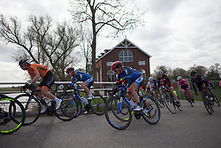 Rebecca Carter (GBR) of Team WNT rides mid-pack during Stage 1b of the Healthy Ageing Tour - a 77.6 km road race, starting and finishing in Grijpskerk on April 5, 2017, in Groeningen, Netherlands.