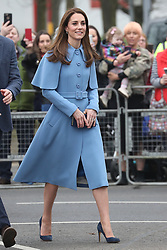 February 28, 2019 - Ballymena, United Kingdom - CATHERINE, the Duchess of Cambridge, on a walkabout outside the Braid Centre in Ballymena on the second day of their trip to Northern Ireland. (Credit Image: © Stephen Lock/i-Images via ZUMA Press)