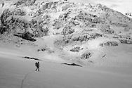 Climbing the Mt. Rainier via Ptarmigan Ridge.