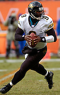 MORNING JOURNAL/DAVID RICHARD<br /> David Garrard looks downfield before throwing a touchdown pass the Jimmy Smith in the third quarter.