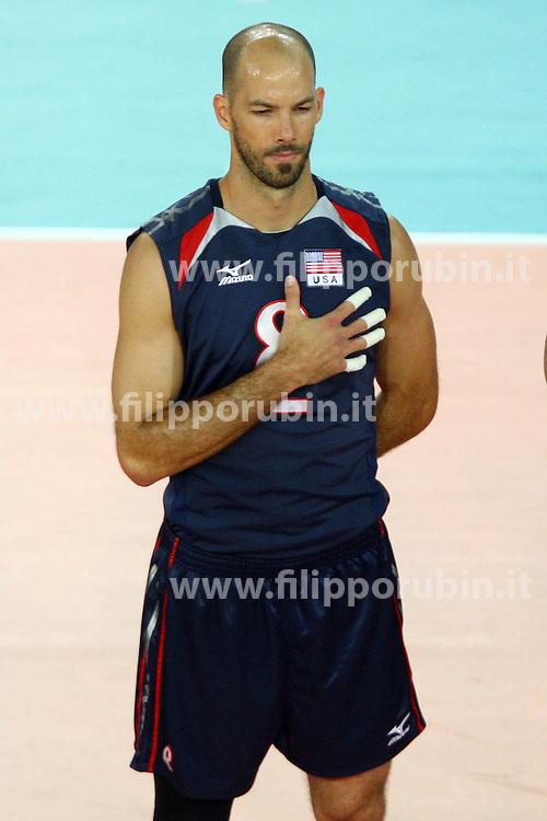 William Priddy.USA - Francia.Volley 2010.Campionati mondiali pallavolo maschile 2010.Roma 04-10-2010.Foto Galbiati - Rubin