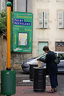 Women using a recycling point, Beaune France