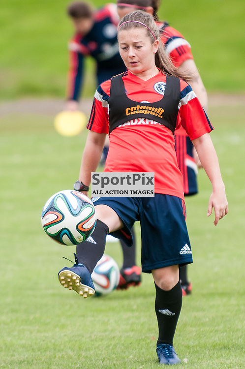 The Scotland Women's team train at Stepps Playing Fields in Glasgow ahead of their World Cup Qualifier with Sweden, 12 June 2014. (c) Paul J Roberts / Sportpix.org.uk