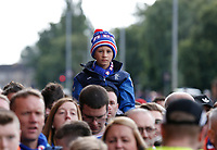 Football - 2019 / 2020 Ladbrokes Scottish Premiership - Rangers vs. Celtic<br /> <br /> A young Rangers fan prior to the match, at Ibrox Stadium.<br /> <br /> COLORSPORT/BRUCE WHITE