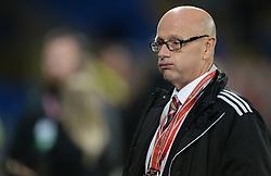 Serbia's head coach Slavoljub Muslin - Mandatory by-line: Alex James/JMP - 12/11/2016 - FOOTBALL - Cardiff City Stadium - Cardiff, United Kingdom - Wales v Serbia - FIFA European World Cup Qualifiers