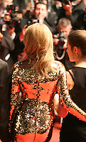 Kylie Minogue faces photographers at the Holy Motors gala screening, red carpet at the 65th Cannes Film Festival France. Wednesday 23rd May 2012 in Cannes Film Festival, France.