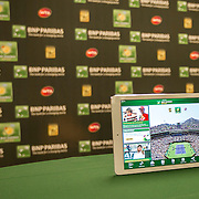 March 6, 2015, Indian Wells, California:<br /> The BNP Paribas Open mobile app is displayed on an iPad at the Indian Wells Tennis Garden in Indian Wells, California Friday, March 6, 2015.<br /> (Photo by Billie Weiss/BNP Paribas Open)