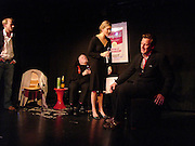 Joss Ings-chambers,  Julian Bird, Kinvara Balfour and Bill Hurst, Dazed and Abused by Kinvara Balfour, the Canal Cafe theatre. London W2. 4 October 2004. ONE TIME USE ONLY - DO NOT ARCHIVE  © Copyright Photograph by Dafydd Jones 66 Stockwell Park Rd. London SW9 0DA Tel 020 7733 0108 www.dafjones.com