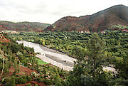 Ourika Valleyand river  Morocco