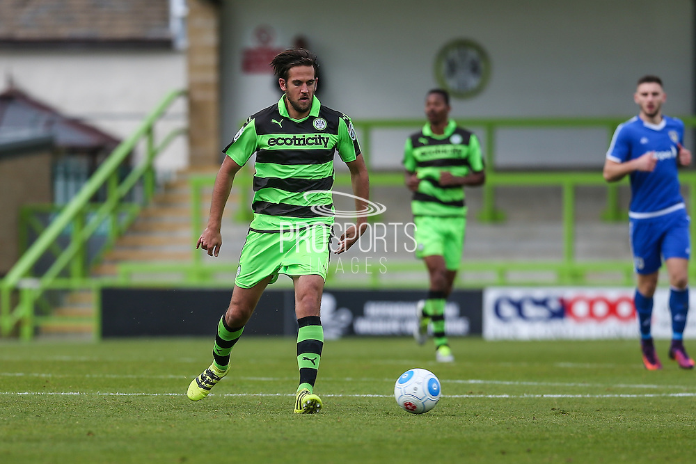 Forest Green Rovers Darren Carter(12) runs forward during the Vanarama National League match between Forest Green Rovers and Guiseley  at the New Lawn, Forest Green, United Kingdom on 22 October 2016. Photo by Shane Healey.