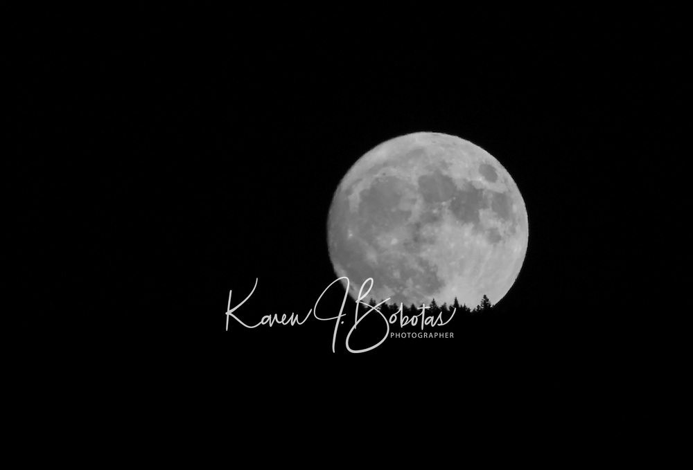 Full moon in Gilford, New Hampshire.  ©2016 Karen Bobotas Photographer