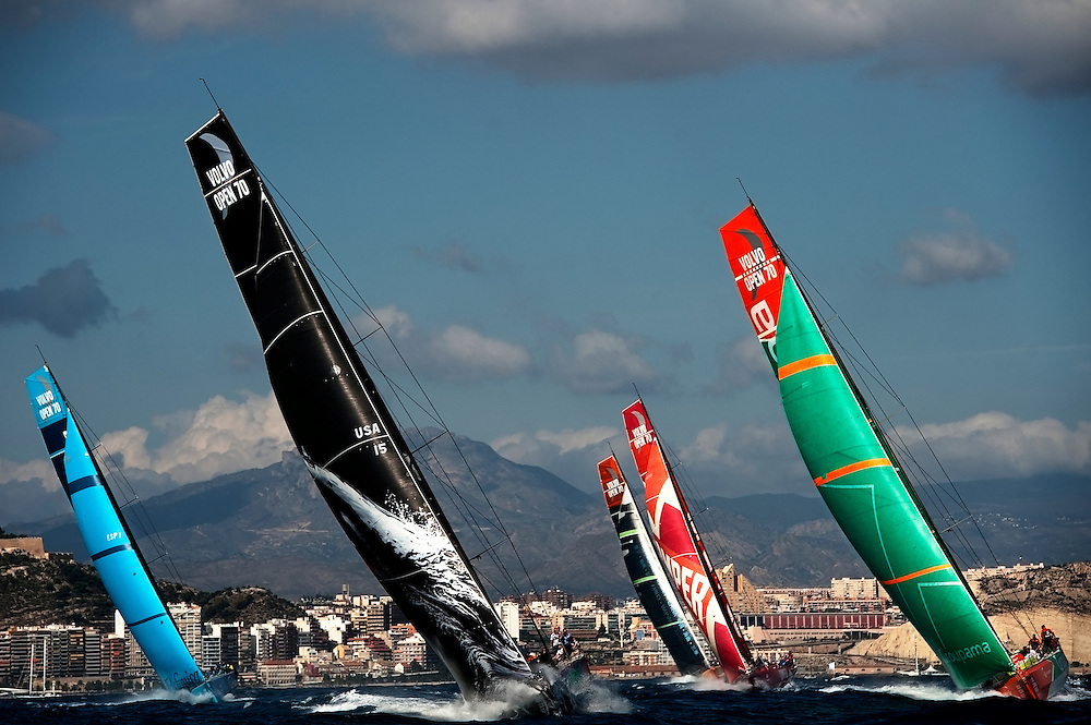 ALICANTE, SPAIN - OCTOBER 30: Volvo Ocean Race day 17 at Alicante Puerto de Salida on October 30, 2011 in Alicante, Spain. (Photo by Xaume Olleros)