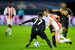 Matel #17 of GNK Dinamo Zagreb and Kostas Fortounis #7 of Olympiakos during football match between GNK Dinamo Zagreb and Olympiakos in Group F of Group Stage of UEFA Champions League 2015/16, on October 20, 2015 in Stadium Maksimir, Zagreb, Croatia. Photo by Urban Urbanc / Sportida