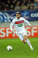 FOOTBALL - FRENCH CUP 2011/2012 - 1/16 FINAL - SABLE FC v PARIS SAINT GERMAIN - 20/01/2012 - PHOTO PASCAL ALLEE / DPPI - JEREMY MENEZ (PSG)