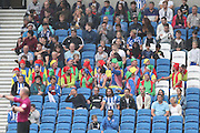 football fans, football supporters in fancy dress during the EFL Sky Bet Championship match between Brighton and Hove Albion and Brentford at the American Express Community Stadium, Brighton and Hove, England on 10 September 2016.