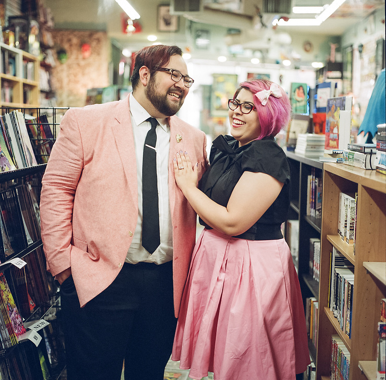 Courtney and Kevin's Engagement Photos at House of Secrets in Burbank