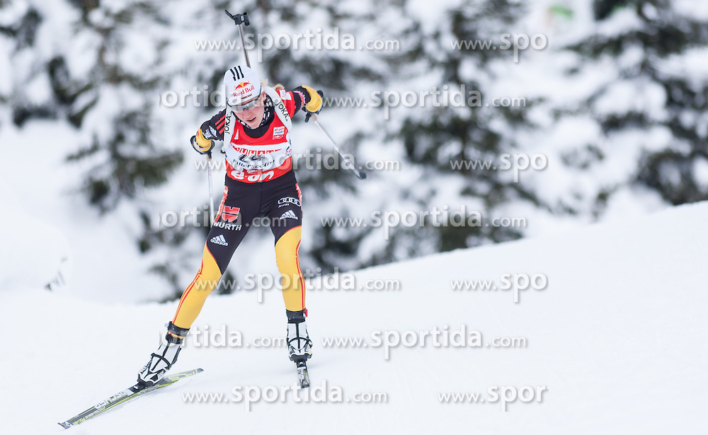 07.12.2012, Biathlonarena, Hochfilzen, AUT, E.ON IBU Weltcup, Sprint, Damen, im Bild Miriam Goessner (GER) // Miriam Goessner of Germany // during #Womens sprint of E.ON IBU Biathlon World Cup at the Biathlonstadium in Hochfilzen, Austria on 2012/12/07. EXPA Pictures © 2012, PhotoCredit: .EXPA/ Juergen Feichter