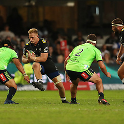DURBAN, SOUTH AFRICA - MAY 05: Jean-Luc du Preez of the Cell C Sharks during the Super Rugby match between Cell C Sharks and Highlanders at Jonsson Kings Park Stadium on May 05, 2018 in Durban, South Africa. (Photo by Steve Haag/Gallo Images)