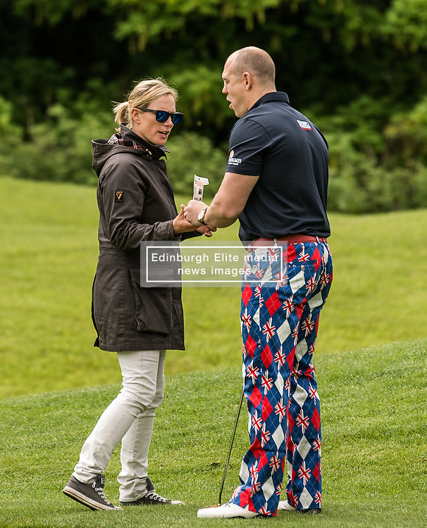 Zara Tindall and Mike Tindall at The ISPS HANDA Mike Tindall Celebrity Golf Classic<br /> <br /> (c) John Baguley | Edinburgh Elite media