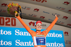 Ruth Winder (USA) takes the race lead with one stage to go after Stage 3 of 2020 Santos Women's Tour Down Under, a 109.1 km road race from Nairne to Stirling, Australia on January 18, 2020. Photo by Sean Robinson/velofocus.com