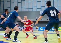 06.01.2019, Olympiaworld, Innsbruck, AUT, Österreich vs Griechenland, Continental Cup, im Bild v.l. Ioannis Basmalis (GRE), Robert Weber (AUT), Dimitrios Tziras (GRE) // v.l. Ioannis Basmalis (GRE), Robert Weber (AUT), Dimitrios Tziras (GRE) during the handball Continental Cup match between Austria and Griechenland at the Olympiaworld in Innsbruck, Austria on 2019/01/06. EXPA Pictures © 2019, PhotoCredit: EXPA/ Johann Groder