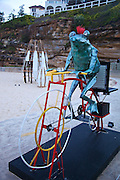 Sculpture By The Sea, Bondi, Sydney..The world's largest annual free-to-the-public outdoor sculpture exhibition, Sculpture by the Sea, Bondi. 23.10.12.punk frog by Soren Lyngbye