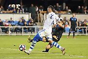March 2, 2019; San Jose, CA, USA; Montreal Impact midfielder Saphir Taider (8) scores a goal past San Jose Earthquakes defender Nick Lima (24) during the first half at Avaya Stadium.