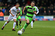 Forest Green Rovers Liam Shephard(2) runs forward during the EFL Sky Bet League 2 match between Forest Green Rovers and Newport County at the New Lawn, Forest Green, United Kingdom on 6 October 2018.