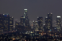 Downtown Los Angeles Skyline at Night from Griffith Observatory, California