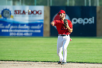 KELOWNA, BC - JULY 17:  Tyler Grissom #23 of the Kelowna Falcons throws the ball in against the Wenatchee Applesox at Elks Stadium on July 17, 2019 in Kelowna, Canada. (Photo by Marissa Baecker/Shoot the Breeze)