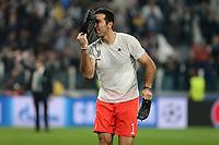 18.10.2017 - Torino - Champions League   -  Juventus-Sporting Lisbona nella  foto: Gianluigi Buffon esulta a fine partita
